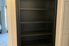 Black Recessed Bookcase