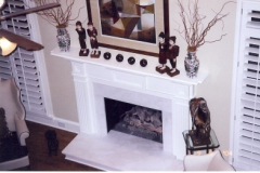 Fireplace Mantle Traditional White
