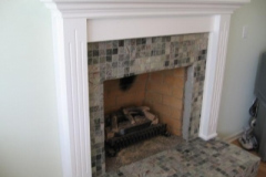 Fireplace Mantle White Fluted Mantle