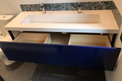 Floating Blue Vanity