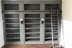 Grey Library Wall Unit