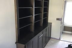 Stained Recessed Wall Unit