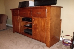 Tiger Maple TV Stand